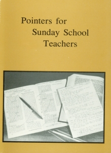 [Pointers for Sunday School Teachers]